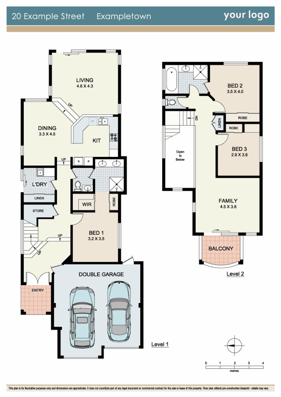 Floorplan sample 1 zigzag floorplans for real estate for Floor plans for real estate marketing